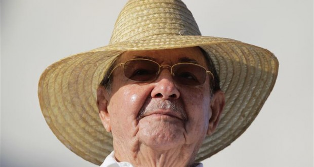 Cuba's President Raul Castro attends the May Day parade in Havana's Revolution Square